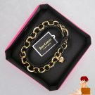New Authentic Boxed Juicy Couture Open Link DIY Bracelet for Mini Charms Gold