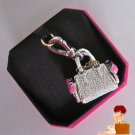 New Authentic Boxed Juicy Couture Pave Crystal Daydreamer Purse Bag Charm Silver