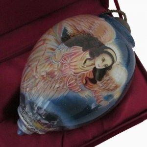 New Ne'Qwa Art Large Guiding Angel Dona Gelsinger Reverse Painted Glass Ornament