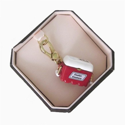 Juicy Couture Cooler w/Champagne Red Ice Chest Charm