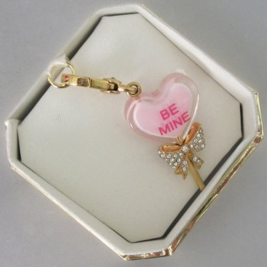 New Authentic Juicy Couture Limited Edition Heart Lolli Lollipop Charm YJRU6358