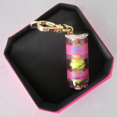 New Authentic Juicy Couture Can of Tennis Balls Pink Yellow Gold Charm YJRU6473