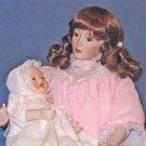 13in Mother and Child Porcelain Doll Set LULLABY by Sandra Kuck from Ashton Drake Galleries