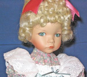 Mary Mary Quite Contrary porcelain doll by Dianna Effner Mother Goose from Ashton Drake