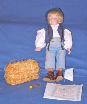 Little Boy Blue porcelain doll by Dianna Effner Mother Goose Collection Ashton Drake Galleries