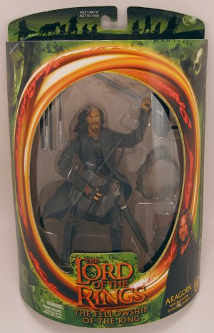 ARAGORN action figure Lord of the Rings Fellowship NRFB 2001