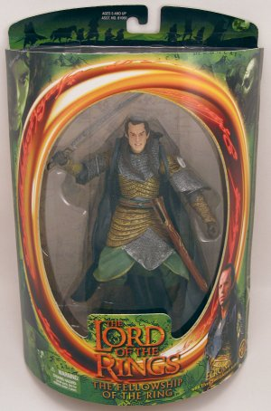 ELROND action figure Lord of the Rings Fellowship NRFB 2001