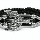 Handmade bracelet. Cross 1
