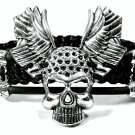 Handmade bracelet. Skull 3