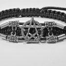 Handmade bracelet. Pentagram 3