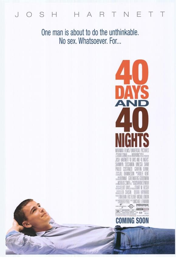 40 Days and 40 Nights  Single Sided Original Movie Poster 27x40 inches
