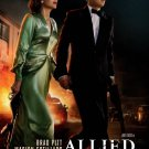 """Allied Original Double Sided Movie Poster  27""""x40"""""""