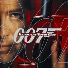 """Tomorrow Never Dies Adv Silver Foil  on logo 007 DS Movie Poster  27""""x40"""""""