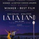 La La Land Golden Globe  Movie Poster Double Sided 27x40 Orig 27x40 inches