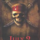 Pirates of the Caribbean Curse of the Black Pearl Advance  Movie Poster Single Sided 27x40 inches