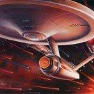 Star Trek Enterprise Spaceship Single Sided Movie Poster 27x40 inches