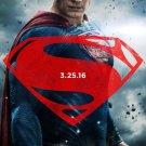 Batman V Superman Advance Superman Double Sided Original Movie Poster 27×40 inches