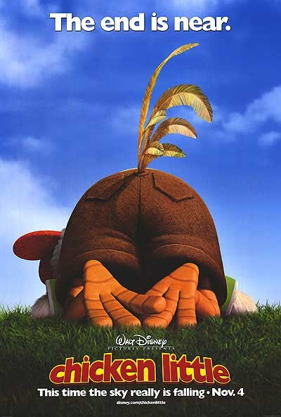 Chicken Little Advance A Double Sided Original Movie Poster 27�40 inches
