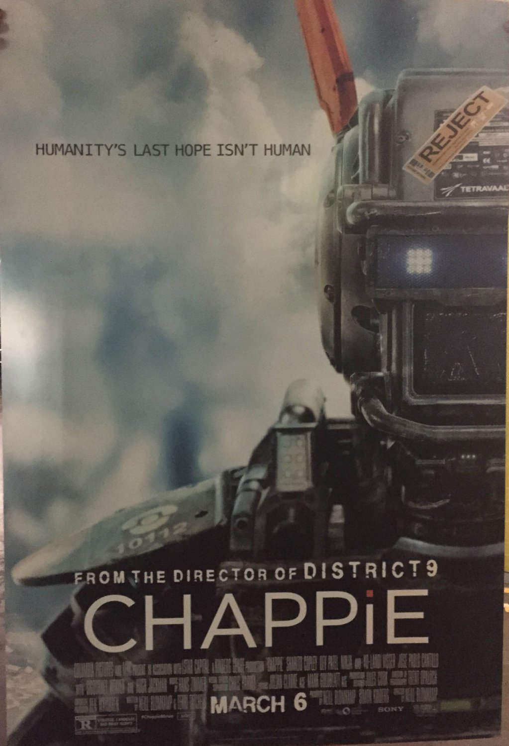 Chappie Version C Double Sided Original Movie Poster 27�40