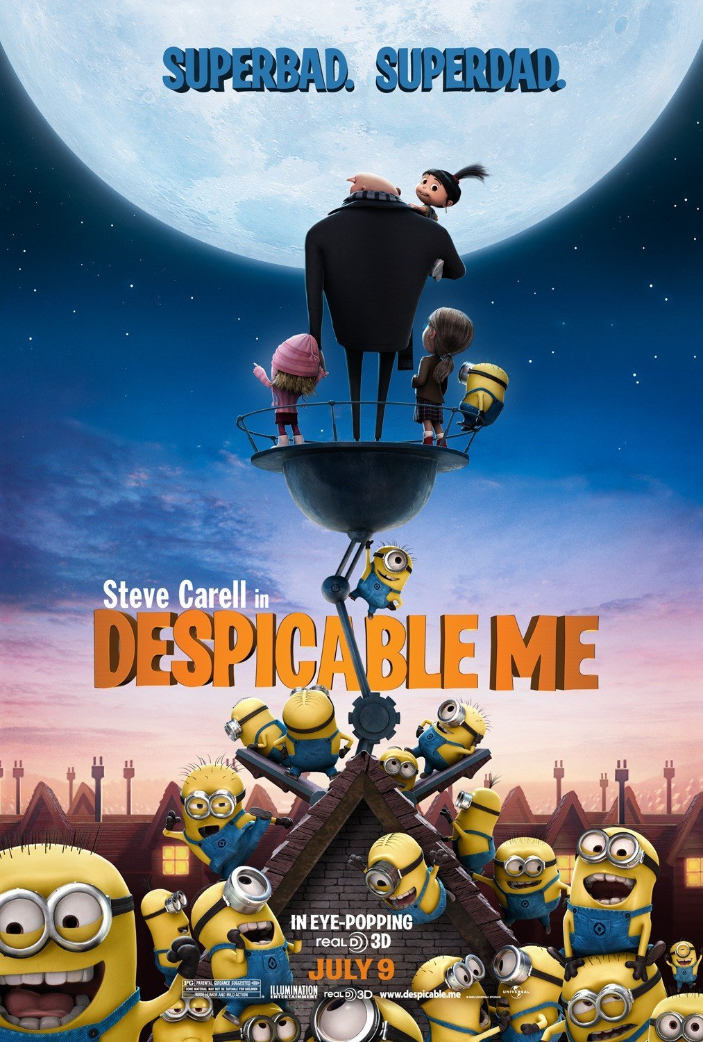 Despicable Me Double Sided Original Movie Poster 27�40