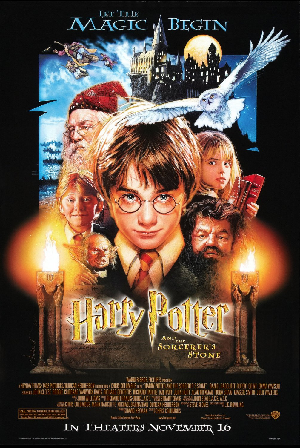 Harry Potter and the Sorcerer�s Stone Dvd Poster 27�40 inches