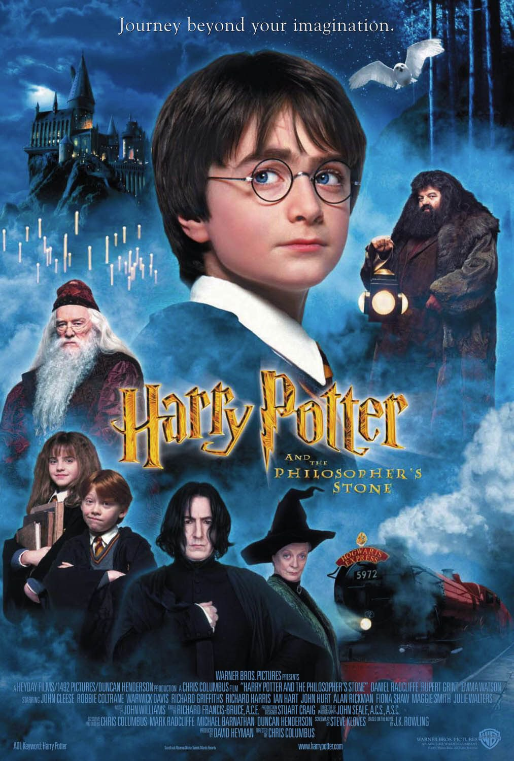 Harry Potter and the Sorcerer�s Stone Double Sided Original Movie Poster 27�40