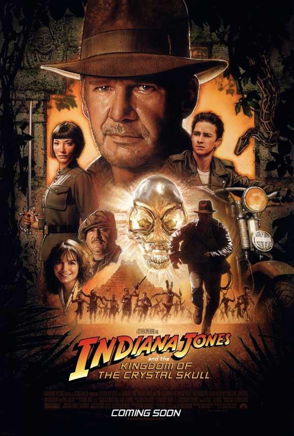 Indiana Jones Kingdom of the Crystal Skull International Double Sided Original Movie Poster 27�40