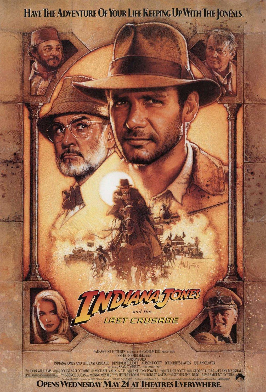 Indiana Jones and the Last Crusade Re-Release Original Movie Poster 27�40