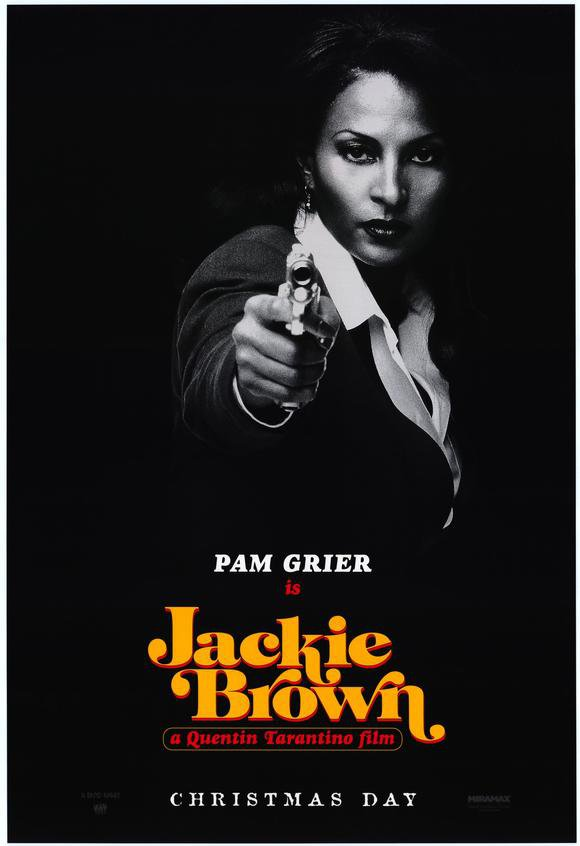 Jackie Brown Pam Grier Advance Double Sided Original Movie Poster 27�40
