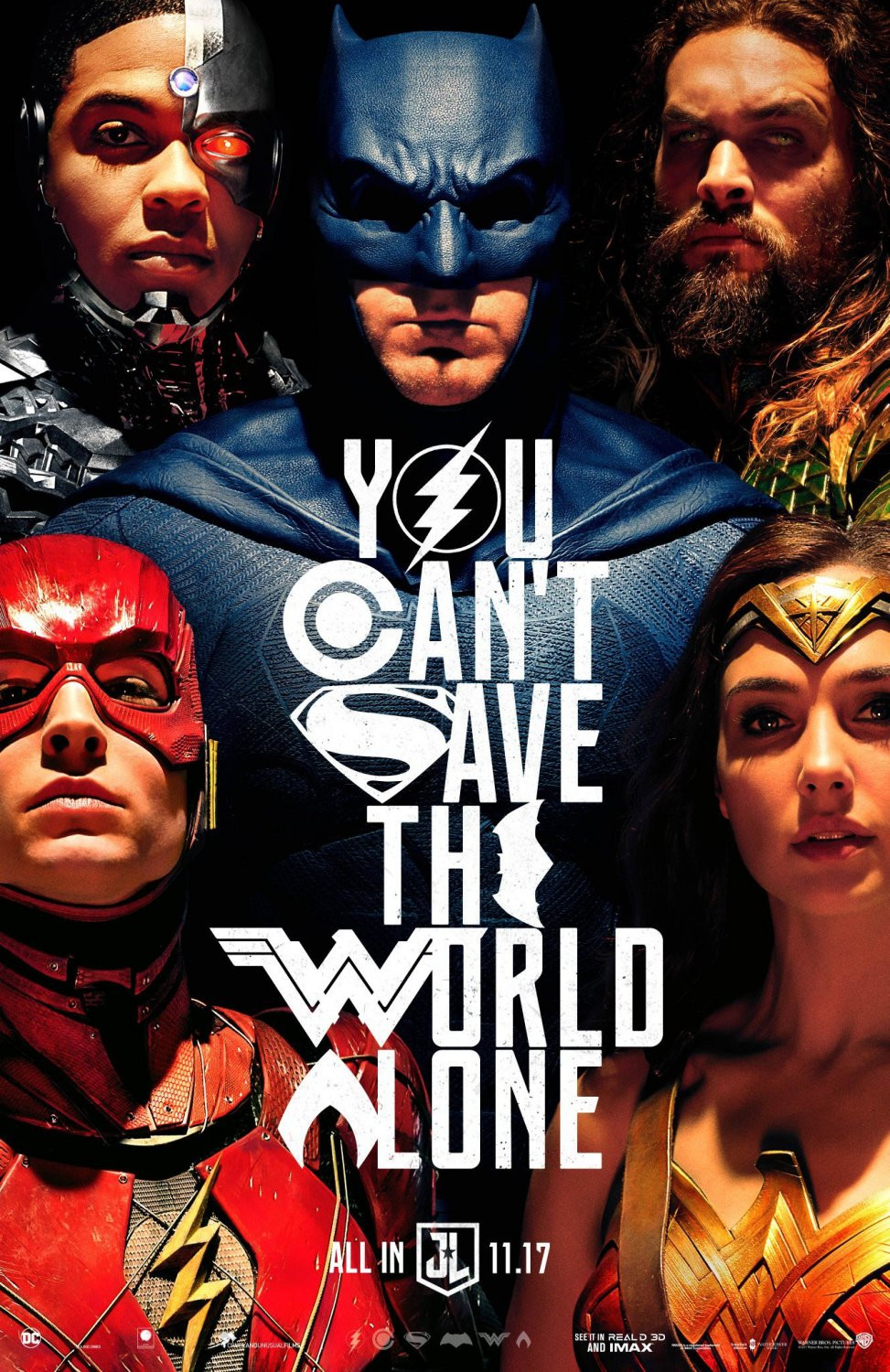 Justice League Advance B Double Sided Original Movie Poster 27�40 inches