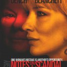 Notes On A Scandal Double Sided Original Movie Poster 27×40