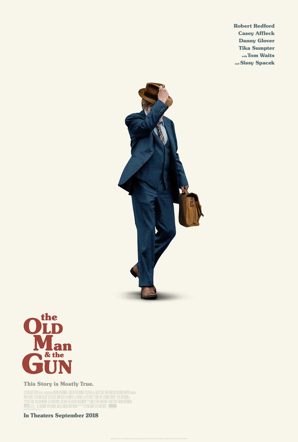 The Old man & the Gun Double Sided 27�x40� inches Original Movie Poster