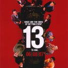 Ocean's 13 (Red) Double Sided Original Movie Poster 27×40