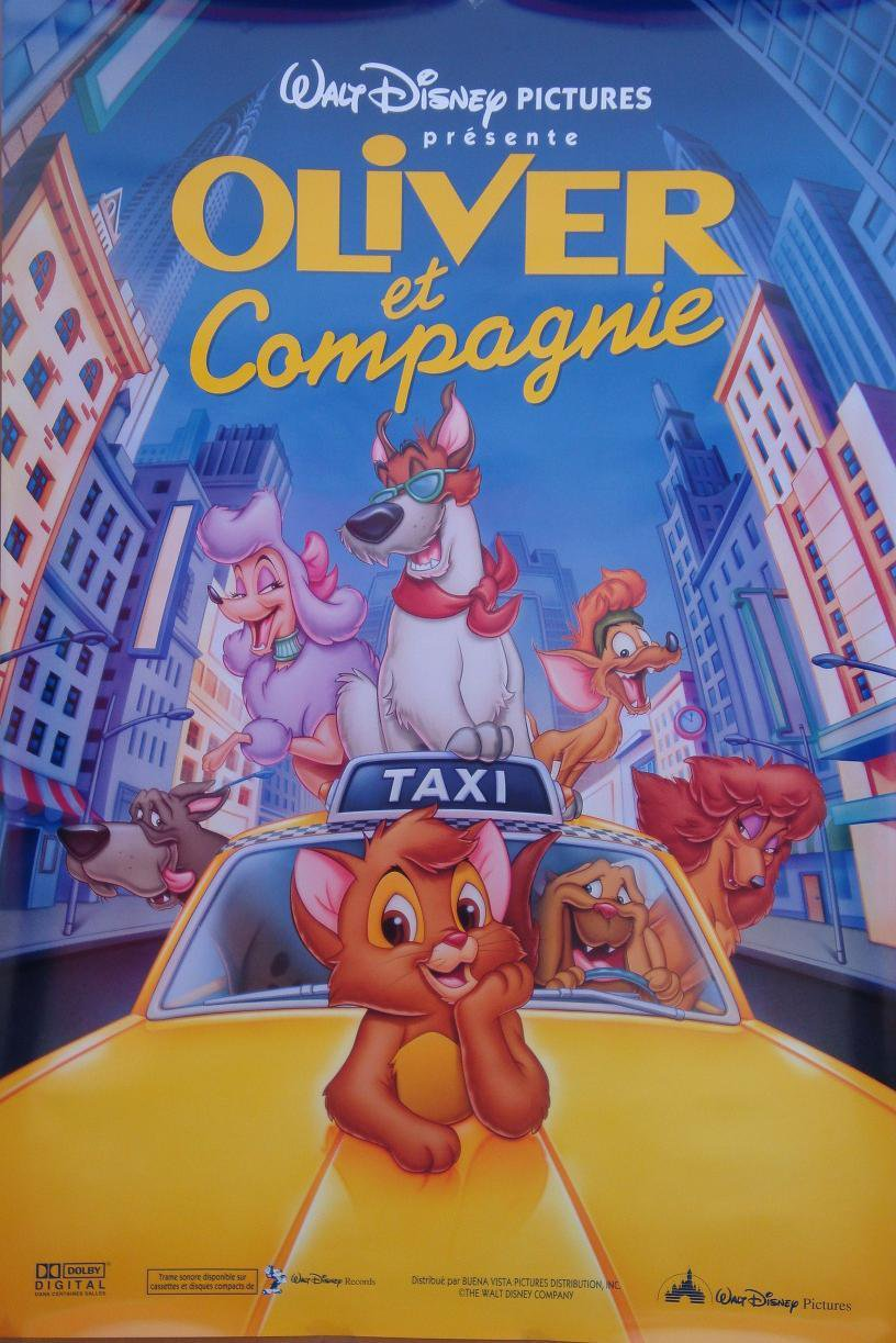 Oliver & Company French Single Sided Original Movie Poster 27�40