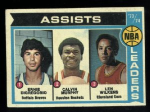 1974-75 Topps #149 NBA Assist Leaders