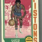 1974-75 Topps #22 Curtis Rowe  NBA Detroit Pistons