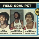 1974-75 Topps #146 NBA Field Goal Pct. Leaders Kareem Abdul-Jabbar