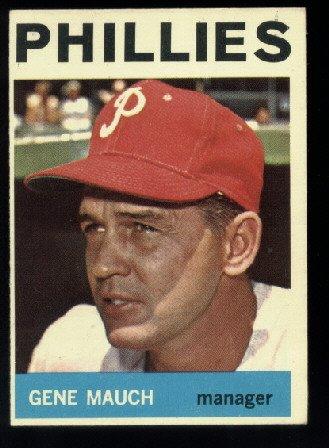 1964 Topps #157 Gene Mauch Philadelphia Phillies Ex/NrMt