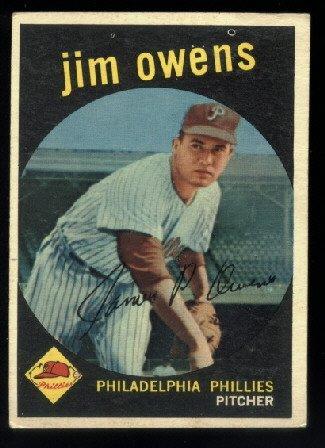 1959 Topps #503 Jim Owens Philadelphia Phillies