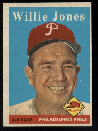 1958 Topps #181 Willie Jones  Philadelphia Phillies