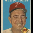 1958 Topps #181 Willie Jones  Philadelphia Phillies