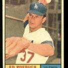 1961 Topps #6 Ed Roebuck  Los Angeles Dodgers baseball card