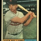 1961 Topps #8 Dick Williams Kansas City Athletics baseball card