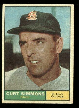 1961 Topps #11 Curt Simmons  St. Louis Cardinals baseball card
