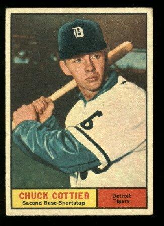 1961 Topps #13 Chuck Cottier  Detroit Tigers  baseball card