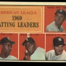 1961 Topps #42 A.L. Batting Champions baseball card