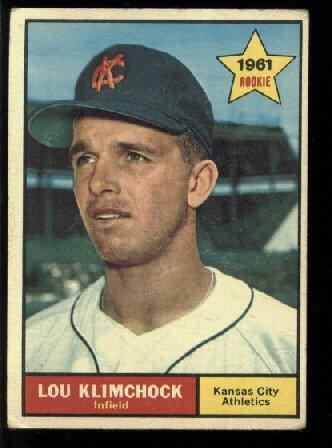 1961 Topps #462 Lou Klimchock RC Kansas City Athletics rookie baseball card