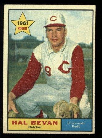 1961 Topps #456 Hal Bevan  RC Cincinnati Reds rookie baseball card