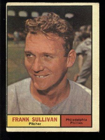 1961 Topps #281 Frank Sullivan Philadelphia Phillies baseball card o/c