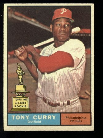 1961 Topps #262 Tony Curry All-Star rc Philadelphia Phillies rookie baseball card
